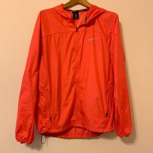 Men's Nike running zip up windbreaker with hoodie
